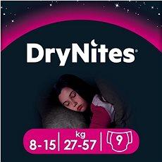 HUGGIES Dry Nites Large 8–15 years Girls (9 ks) - Dětské pleny