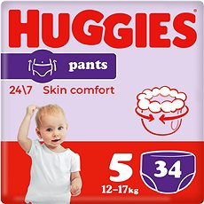 HUGGIES Pants Jumbo vel. 5 (34 ks) - Plenkové kalhotky