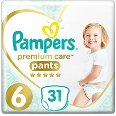 PAMPERS Pants Premium Care Extra Large vel. 6 (31 ks) - Plenkové kalhotky