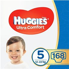 HUGGIES Ultra Comfort Jumbo vel. 5 (168 ks) - Dětské pleny