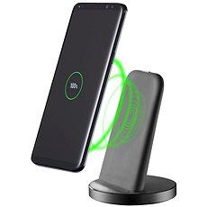 Cellularline Wireless Fast Charger Stand QI 10W černý - Bezdrátová nabíječka