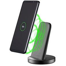 Cellularline WIRELESS FAST CHARGER STAND s USB-C černý - Bezdrátová nabíječka