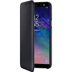 Samsung Galaxy A6 Wallet Cover černé - Pouzdro na mobilní telefon
