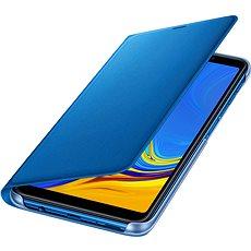 Samsung Galaxy A7 2018 Flip Wallet Cover Blue - Pouzdro na mobilní telefon