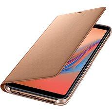 Samsung Galaxy A7 2018 Flip Wallet Cover Gold - Pouzdro na mobilní telefon