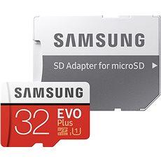 Samsung MicroSDHC 32GB EVO Plus UHS-I U1 + SD adaptér - Paměťová karta