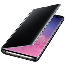 Samsung Galaxy S10+ Clear View Cover černý - Pouzdro na mobilní telefon