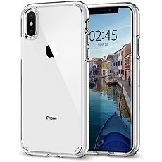 Spigen Ultra Hybrid Crystal Clear iPhone XS/X - Kryt na mobil