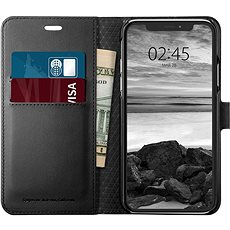 Spigen Wallet S Black iPhone XS/X - Kryt na mobil