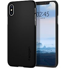 Spigen Thin Fit Black iPhone XS/X - Kryt na mobil