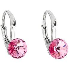 EVOLUTION GROUP 31230.3 růžová náušnice dekorované krystaly Swarovski® (925/1000, 1,2 g) - Náušnice