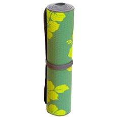 Sissel Yoga Mat flower zelená - Podložka