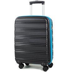 Rock TR-0164/3-S PP - černá/modrá - Cestovní kufr s TSA zámkem