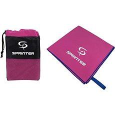Sprinter - ručník z mikrovlákna 100 × 160 cm - růžový - Ručník