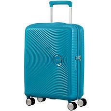 American Tourister Soundbox Spinner 55 Exp Summer Blue - Cestovní kufr s TSA zámkem