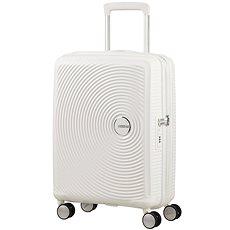 American Tourister Soundbox Spinner 55 Exp Pure White - Cestovní kufr s TSA zámkem