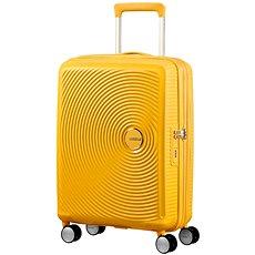 American Tourister Soundbox Spinner 55 Exp Golden Yellow - Cestovní kufr s TSA zámkem