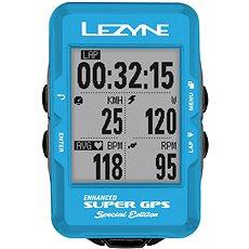 Lezyne Super GPS Special Edition - Blue - Cyklocomputer