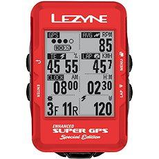 Lezyne Super GPS Special Edition - Red - Cyklocomputer