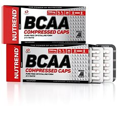 Nutrend BCAA Compressed caps, 120 kapslí, - Aminokyseliny
