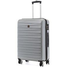 Modo by Roncato Houston 67 cm, 4 kolečka, stříbrná - Cestovní kufr s TSA zámkem