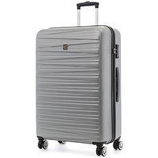 Modo by Roncato Houston 77 cm, 4 kolečka, stříbrná - Cestovní kufr s TSA zámkem