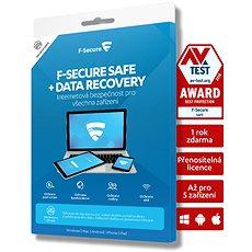 F-Secure SAFE DR pro 5 zařízení na 2 roky + Data Recovery pro 1 zařízení na 2 roky (elektronická lic - Antivirus