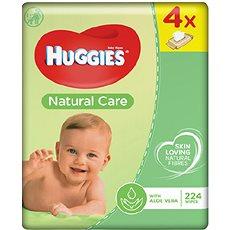 HUGGIES Natural Care Quatro Pack (4× 56 ks) - Dětské vlhčené ubrousky