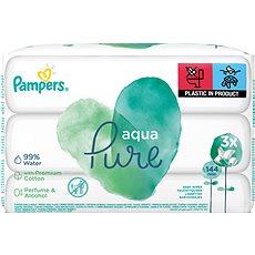 PAMPERS Aqua Pure vlhčené ubrousky 3 × 48 ks - Dětské vlhčené ubrousky