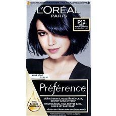 ĽORÉAL PARIS Préférence Blue Black Pearl P12 intenzivní černomodrá  - Barva na vlasy