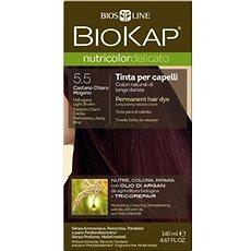 BIOKAP Nutricolor Delicato Mahogany Light Brown Gentle Dye 5.50 140 ml - Přírodní barva na vlasy