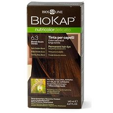 BIOKAP Nutricolor Delicato Dark Golden Blond Gentle Dye 6.30 140 ml - Přírodní barva na vlasy