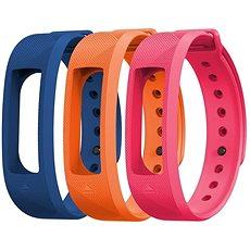 EVOLVEO FitBand B2 náramek modrý + oranžový + růžový  - řemínek