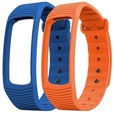 EVOLVEO FitBand B3 náramek modrý + oranžový - řemínek