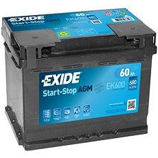 EXIDE START-STOP AGM 60Ah, 12V, EK600 - Autobaterie