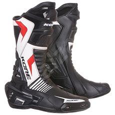 KORE Sport černé/bílé/červené - Boty na motorku