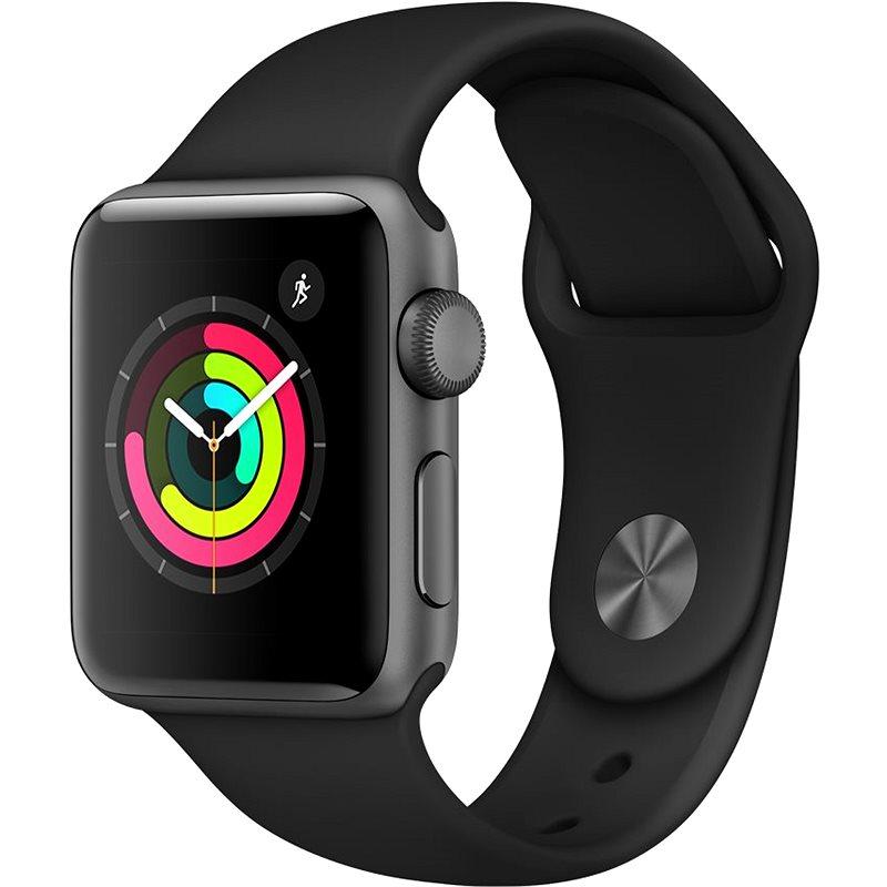 Apple Watch Series 3 38mm GPS Vesmírně šedý hliník s černým sportovním řemínkem - Chytré hodinky