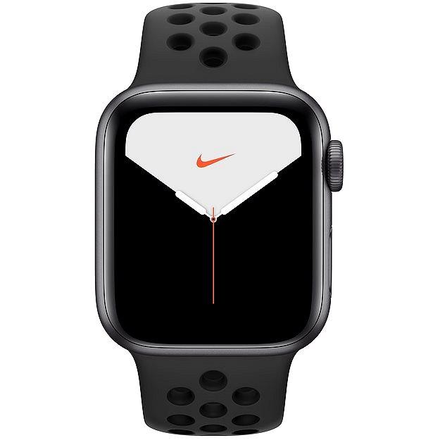 Apple Watch Nike Series 5 40mm Vesmírně šedý hliník s antracitovým/černým sportovním řemínkem Nike - Chytré hodinky