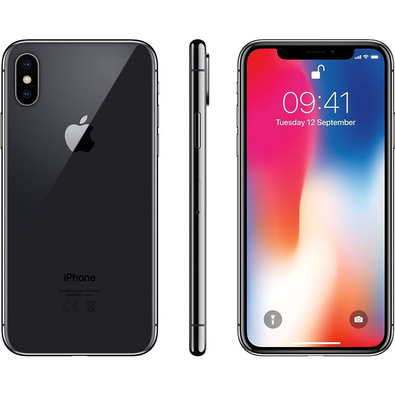 iPhone X 64GB Vesmírně šedý - Mobilní telefon