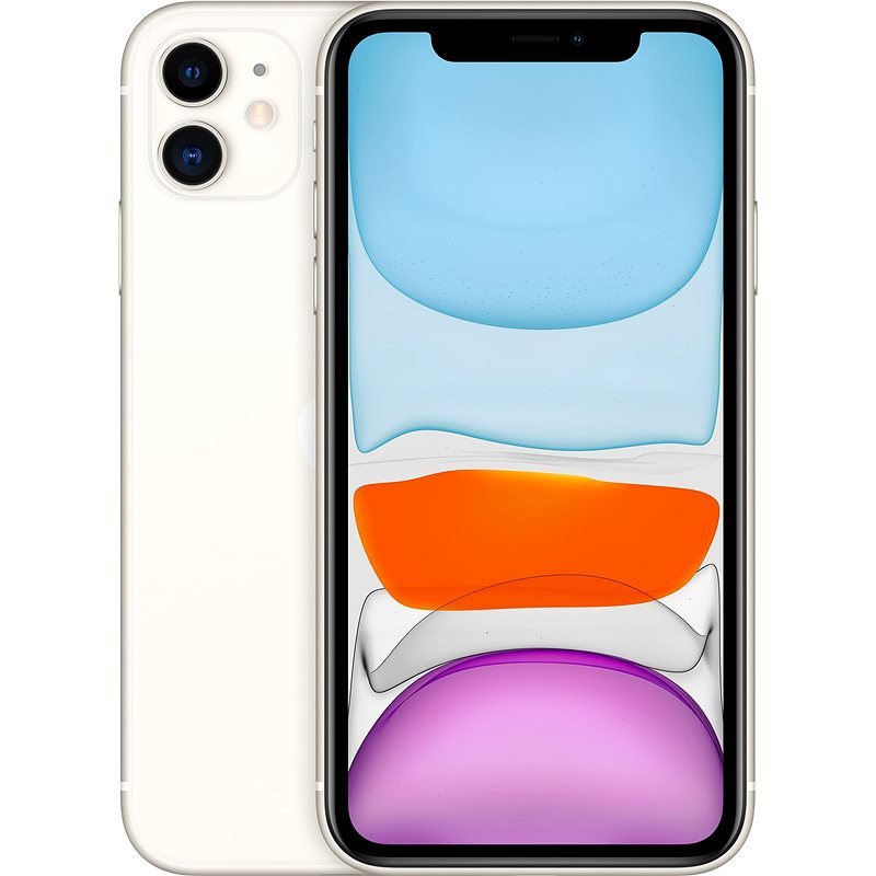 iPhone 11 128GB bílá - Mobilní telefon