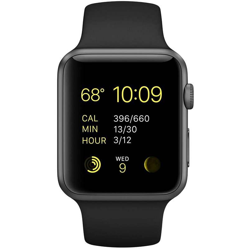 DEMO Apple Watch Sport 42mm Vesmírně šedý hliník s černým řemínkem  - Chytré hodinky