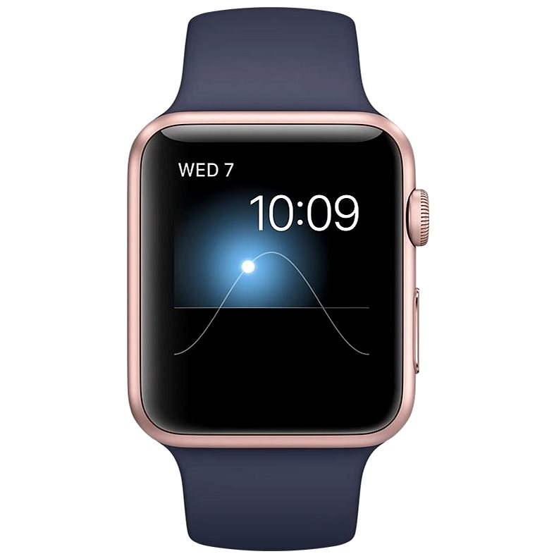 Apple Watch Series 2 42mm Růžově zlatý hliník s půlnočně modrým sportovním řemínkem DEMO - Chytré hodinky