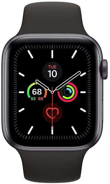 Apple Watch Series 5 44mm Vesmírně šedý hliník s černým sportovním řemínkem - Chytré hodinky