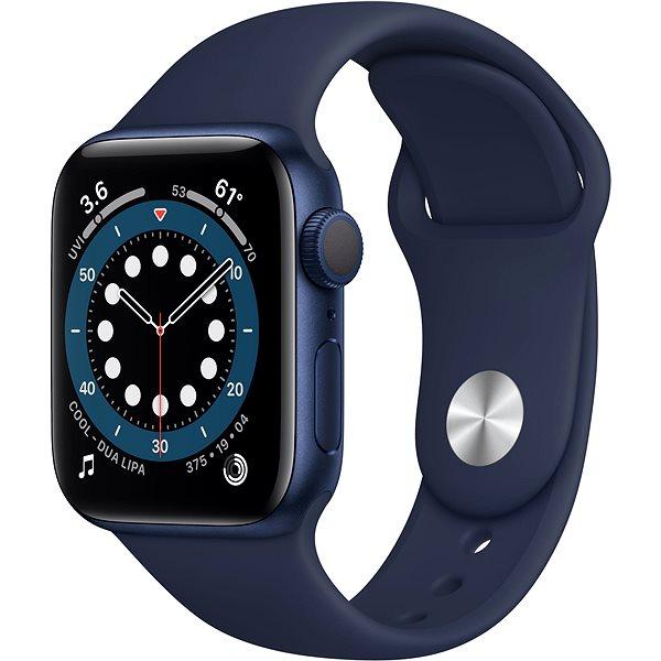 Apple Watch Series 6 44mm Modrý hliník s námořně modrým sportovním řemínkem - Chytré hodinky