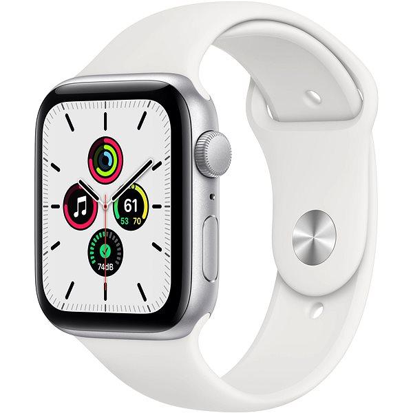 Apple Watch SE 40mm Stříbrný hliník s bílým sportovním řemínkem - Chytré hodinky