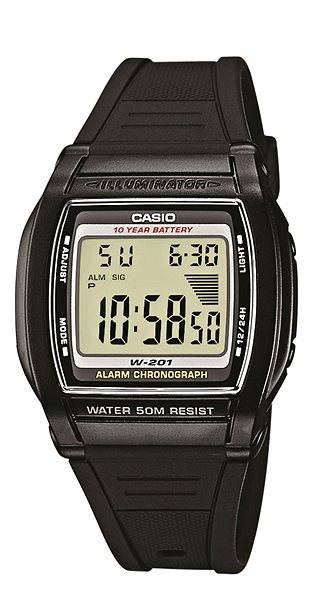 CASIO W 201-1 - Pánské hodinky  3a3e9d6056