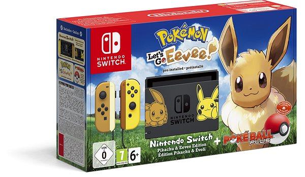 Nintendo Switch + Pokémon  Lets Go Eevee + Poké Ball - Herní konzole ... eb2029d7fb5