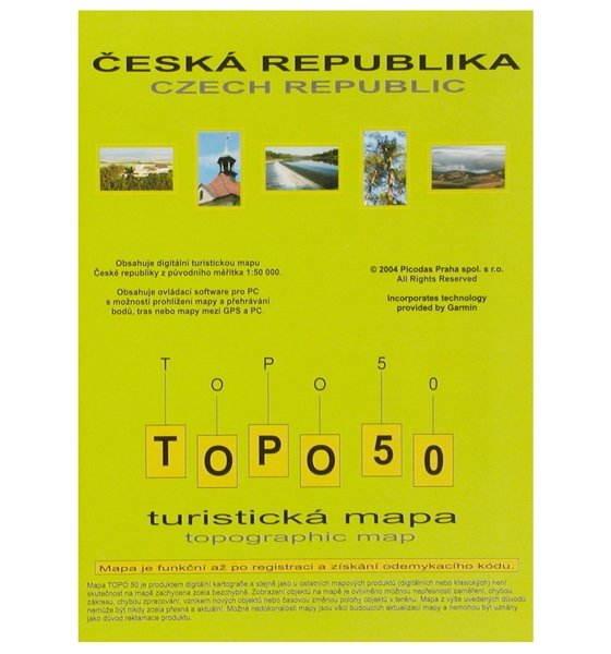 Topo 50 Turisticka Mapa Cr K Gps Garmin Legendc Vistac Gpsmap 60
