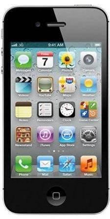iPhone 4S 16GB černý  - Mobilní telefon