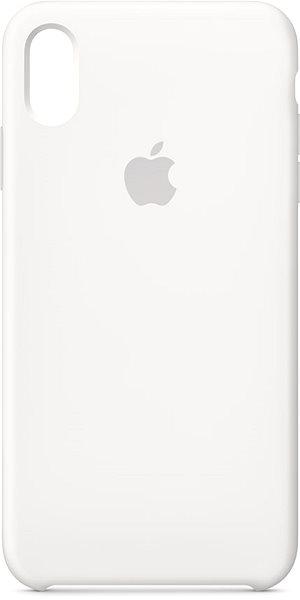 Apple iPhone XS Max Silikonový kryt bílý - Kryt na mobil